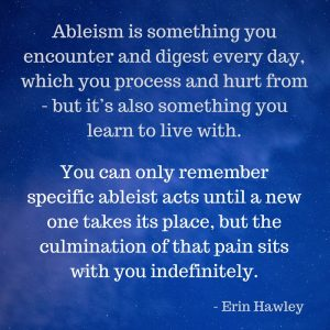Ableism in Fiction – A Guest Post by Erin Hawley  |  Disability in Fiction